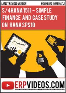 S4-HANA-1511 SAP S/4 HANA – Simple Finance Role Based Training