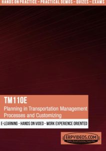 TM110E - Planning in Transportation Management - Processes and Customizing