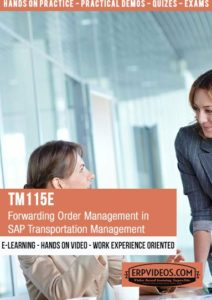 TM115E - Forwarding Order Management in SAP Transportation Management
