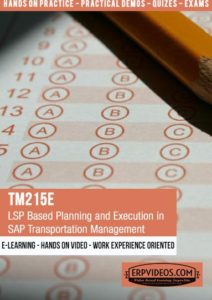 TM215E - LSP Based Planning and Execution in SAP Transportation Management