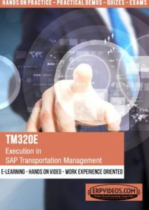 TM320E - Execution in SAP Transportation Management