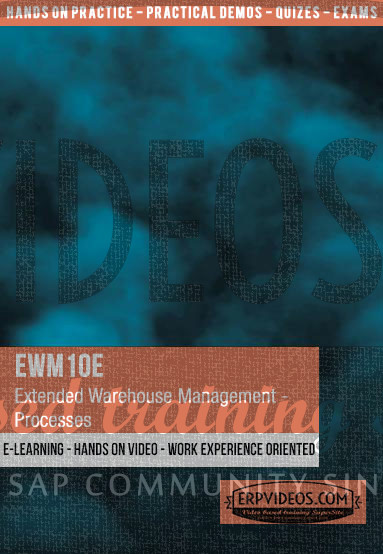 EWM10E - Processes in SAP Extended Warehouse Management - Overview -  E-Learning Video Hands On Demo SAP Online Training