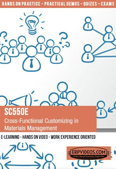 SC550E - Cross-Functional Customizing in Materials Management - E-Learning  Video Hands On Demo SAP Online Training (Copy)
